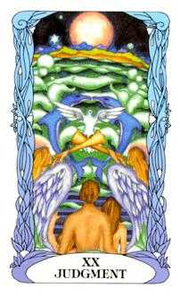 The Judgment Tarot Card - Tarot of a Moon Garden Tarot Deck
