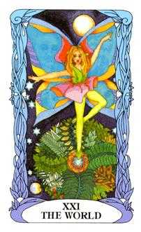 The World Tarot Card - Tarot of a Moon Garden Tarot Deck