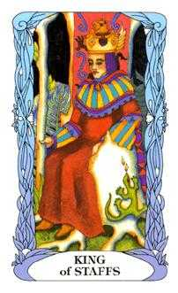 King of Batons Tarot Card - Tarot of a Moon Garden Tarot Deck
