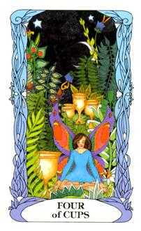 Four of Hearts Tarot Card - Tarot of a Moon Garden Tarot Deck