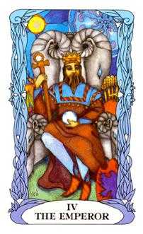 The Emperor Tarot Card - Tarot of a Moon Garden Tarot Deck
