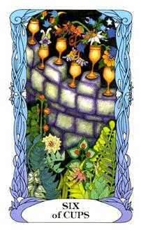 Six of Bowls Tarot Card - Tarot of a Moon Garden Tarot Deck