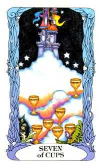 Seven of Cups Tarot Card - Tarot of a Moon Garden Tarot Deck