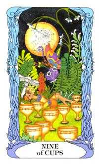 Nine of Bowls Tarot Card - Tarot of a Moon Garden Tarot Deck