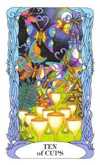 Ten of Hearts Tarot Card - Tarot of a Moon Garden Tarot Deck