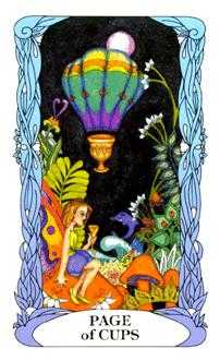 Page of Cauldrons Tarot Card - Tarot of a Moon Garden Tarot Deck