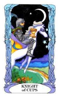 Cavalier of Cups Tarot Card - Tarot of a Moon Garden Tarot Deck