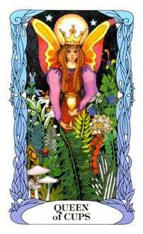 Queen of Ghosts Tarot Card - Tarot of a Moon Garden Tarot Deck