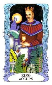 King of Hearts Tarot Card - Tarot of a Moon Garden Tarot Deck
