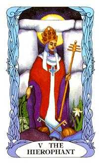 The Hierophant Tarot Card - Tarot of a Moon Garden Tarot Deck