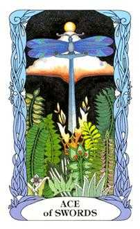 Ace of Wind Tarot Card - Tarot of a Moon Garden Tarot Deck