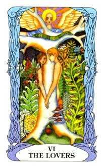The Lovers Tarot Card - Tarot of a Moon Garden Tarot Deck