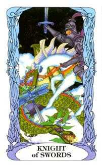 Cavalier of Swords Tarot Card - Tarot of a Moon Garden Tarot Deck