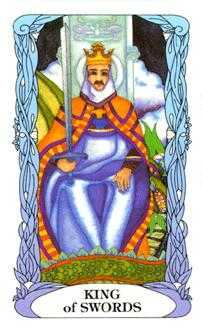 Roi of Swords Tarot Card - Tarot of a Moon Garden Tarot Deck