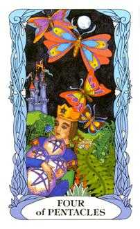 Four of Diamonds Tarot Card - Tarot of a Moon Garden Tarot Deck