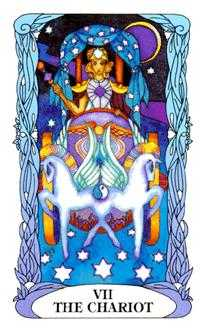 The Chariot Tarot Card - Tarot of a Moon Garden Tarot Deck