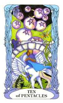 Ten of Diamonds Tarot Card - Tarot of a Moon Garden Tarot Deck