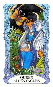 Queen of Coins Tarot Card - Tarot of a Moon Garden Tarot Deck