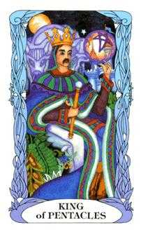 King of Discs Tarot Card - Tarot of a Moon Garden Tarot Deck