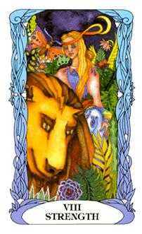 Strength Tarot Card - Tarot of a Moon Garden Tarot Deck
