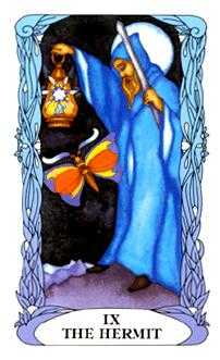 The Anchoret Tarot Card - Tarot of a Moon Garden Tarot Deck