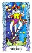 The Fool Tarot card in Tarot of a Moon Garden deck