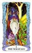 The Magician Tarot card in Tarot of a Moon Garden deck