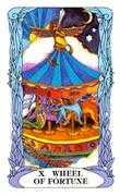 Wheel of Fortune Tarot card in Tarot of a Moon Garden deck