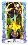 The Hanged Man Tarot card in Tarot of a Moon Garden deck