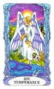 Temperance Tarot card in Tarot of a Moon Garden deck