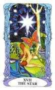 The Star Tarot card in Tarot of a Moon Garden deck