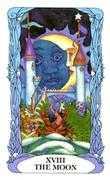 The Moon Tarot card in Tarot of a Moon Garden deck