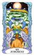 Judgement Tarot card in Tarot of a Moon Garden deck
