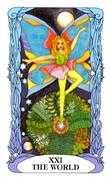 The World Tarot card in Tarot of a Moon Garden deck