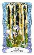Six of Wands Tarot card in Tarot of a Moon Garden deck