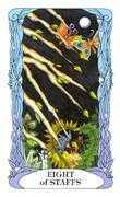 Eight of Wands Tarot card in Tarot of a Moon Garden deck