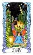 Four of Cups Tarot card in Tarot of a Moon Garden deck
