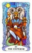 The Emperor Tarot card in Tarot of a Moon Garden deck