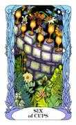 Six of Cups Tarot card in Tarot of a Moon Garden deck