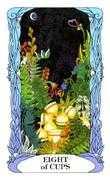 Eight of Cups Tarot card in Tarot of a Moon Garden deck