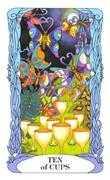 Ten of Cups Tarot card in Tarot of a Moon Garden deck