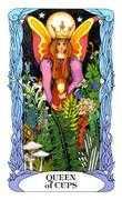 Queen of Cups Tarot card in Tarot of a Moon Garden deck
