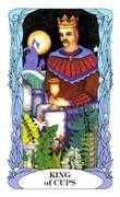 King of Cups Tarot card in Tarot of a Moon Garden Tarot deck