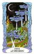 Five of Swords Tarot card in Tarot of a Moon Garden deck