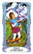 Page of Swords Tarot card in Tarot of a Moon Garden deck