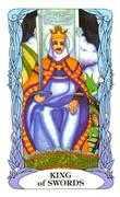 King of Swords Tarot card in Tarot of a Moon Garden deck