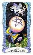 Ace of Coins Tarot card in Tarot of a Moon Garden deck