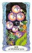 Six of Coins Tarot card in Tarot of a Moon Garden Tarot deck