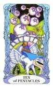 Ten of Coins Tarot card in Tarot of a Moon Garden deck