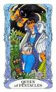 Queen of Coins Tarot card in Tarot of a Moon Garden Tarot deck